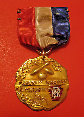 Antique 1924 Pennsylvania Eastern Division Railroad Bowling Competition Medal