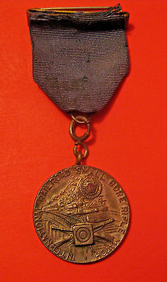 Antique 1934 International Railroad Small Bore Rifle Shooting Competition Medal