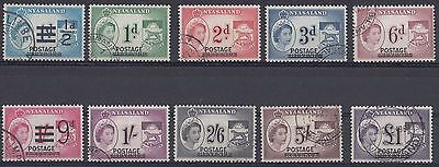 Nyasaland  1963  Definitive Overprints  Less 10s     Used   (535)