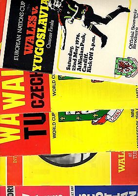 5 x WALES HOME PROGRAMMES 1976 - 1982  Listed 1