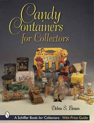 Vintage Candy Container Collectors Ref Guide - Advertising Pieces, Glass Etc