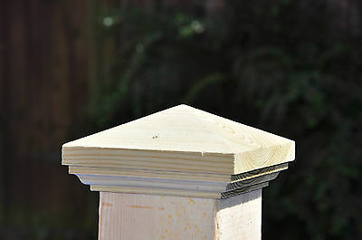 """3"""" Moulded Pyramid Fence Cap x 4 (fits 3"""" post)"""