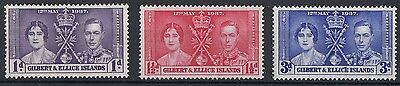 Gilbert & Ellice Islands  1937  Coronation     Mounted Mint   (561)
