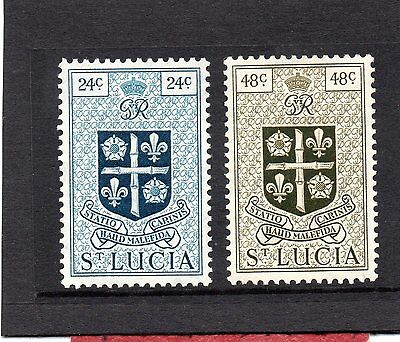St.LUCIA GV1 1949-50 new currency 24c&48c  sg 155-56 HH.MINT
