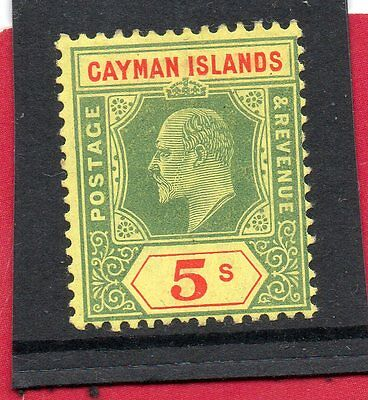 CAYMAN Islands EV11 1907-09 5s green&red/yellow sg 32 H.MINT