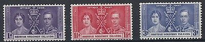 British Solomon Islands  1937  Coronation     Mounted Mint   (567)