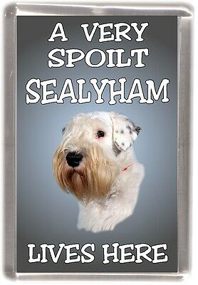"Sealyham Terrier Fridge Magnet  ""A VERY SPOILT SEALYHAM LIVES HERE"" by Starprint"