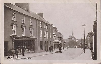 Vintage 1927 Card Of High Street, Narberth