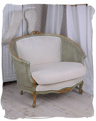 Rokoko Sofa Boudoir Couch Weiss Shabby Chic Sitzmöbel Polstersofa