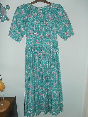 vintage LAURA ASHLEY dress early 1990s size 12-14