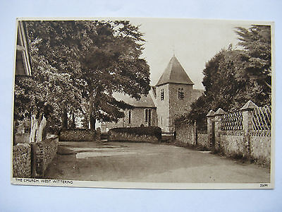 Postcard. The Church, West Wittering,  Sussex Sepia.  Unused. e1