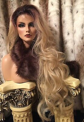 Beautiful, Long, Wavy Rooted Blonde, Lace Front With , Heat Friendly Wig!