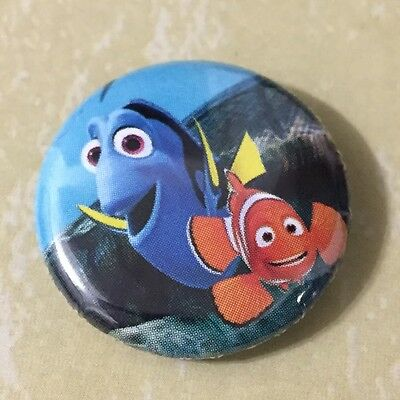 Dory and Marlin Finding Nemo pin back button
