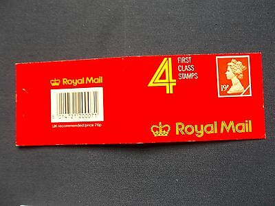 Gd3 Comb Perforation Barcode Stamp Booklet 4 By 19 Pence