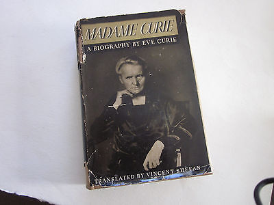 Vintage 1938 Madame Marie Curie  Biography By  Eve Curie