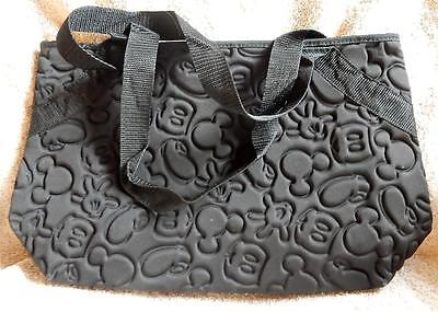 Disney Store Mickey Black Body Parts Quilted  Tote/Bag/Purse