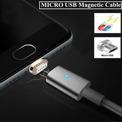 Magnetic Cable Braided Micro USB Magnectic Cable Data 2.4A Fast Charging Cable