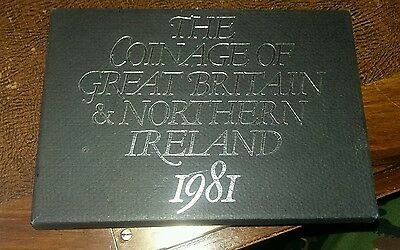 1981 Royal Mint Proof 6 Coin Collection - Original Sleeve UK/GB Year Set
