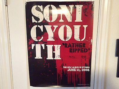 """SONIC YOUTH: Rather Ripped, Promo Poster, 18"""" x 24"""""""