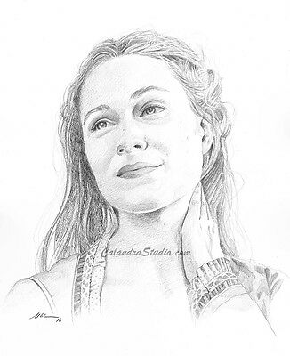 Dolores Abernathy (Westworld) Original Pencil Drawing