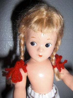 "MME Alexander ~ Vintage 9"" Ana McGuffey Composition Doll 1930's, Googly Eyed"