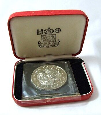 1972 Boxed Gibraltar SOLID SILVER 25p Crown Silver Wedding Anniversary FDC PROOF