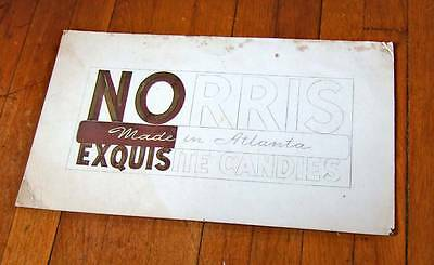 1938 (dated) Norris Candy Co. original artwork for sign