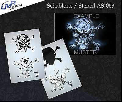 Step by Step Stencil ~~ UMR Airbrush Schablone AS-063 M
