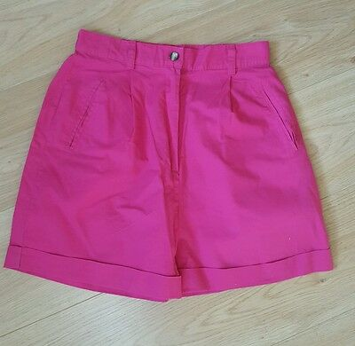 Vintage 90s Pink High Waisted Cuff Shorts Size 12