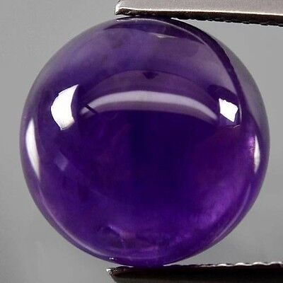 A PAIR OF 7mm ROUND CABOCHON-CUT NATURAL AFRICAN AMETHYST GEMSTONES £1 NR!