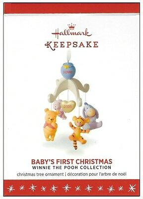 2016 Hallmark Winnie the Pooh Collection Baby's First Christmas Ornament