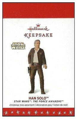 2016 Hallmark Star Wars The Force Awakens Han Solo Ornament!