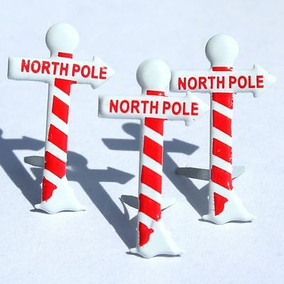 North Pole Brads ** 8 Pcs ** See My Store ***red & White**