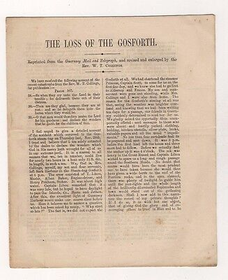 Guernsey Shipwreck, Loss Of The Gosforth, 8 Page Booklet. Sailing From Sark