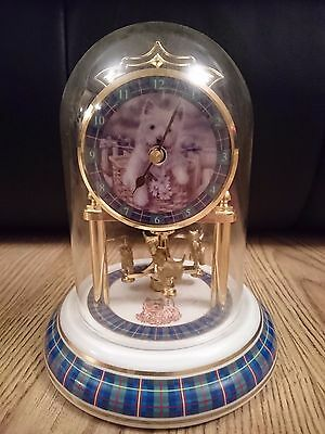 *West Highland White Terrier (Westie) Carriage Clock in good working condition*