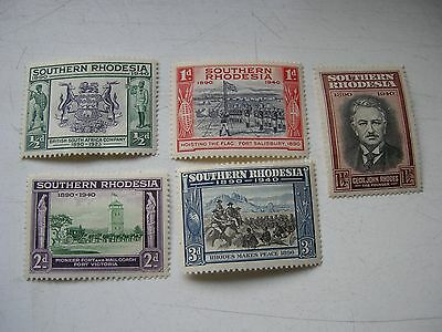 Southern Rhodesia 5 stamps KGVI 1940 all mounted mint.