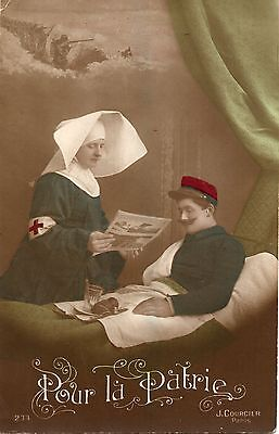 P.P.Card, nurse & patient ,reverse censored f.p.o. addressed to WOKING