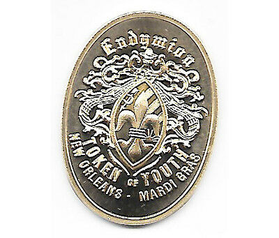 2016 Endymion Oval Gold Plated 50Th Anniversary Mardi Gras Coin Or Doubloon