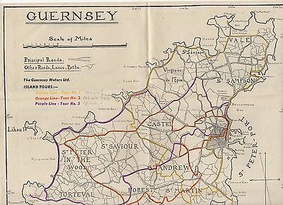 Guernsey 1930 Fold-Out Map, Advert For Regal Cinema On Reverse