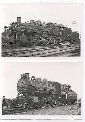 4 5x7 Photos, Canadian Pacific Steam Locomotives with Locations & Dates