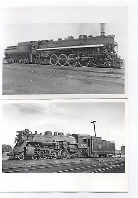 4 5x7 Photos, Canadian National Steam Locomotives with Locations & Dates