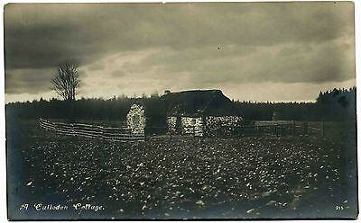 Early Real Photo Postcard . A Culloden Cottage . Scotland