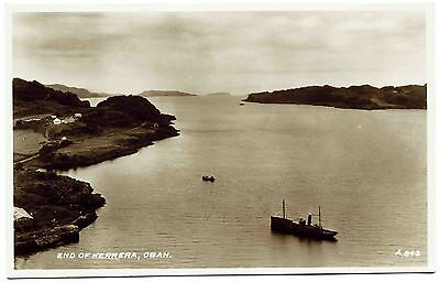 EARLY REAL PHOTO POSTCARD . END OF KERRERA . OBAN . SCOTLAND. c1934