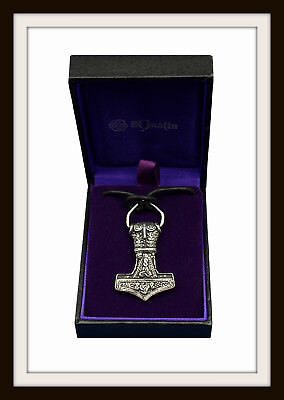 Norse Viking Thor's Hammer ~ Mjolnir ~ Pewter Pendant~ From St Justin ~ Free P&P