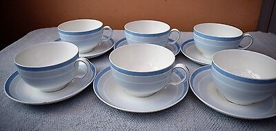 Set of 6 Matching MINTON Large Breakfast Cups & Saucers