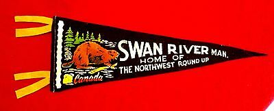 Swan River Manitoba Souvenir Pennant Home of the Northwest Roundup Rodeo msc6