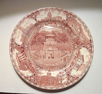 Staffordshire CHINA PLATE Hot Springs Arkansas National Par & Other AR Scenes