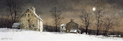 Mill Moon by Ray Hendershot Art Print Farm Landscape Country Poster 19x13