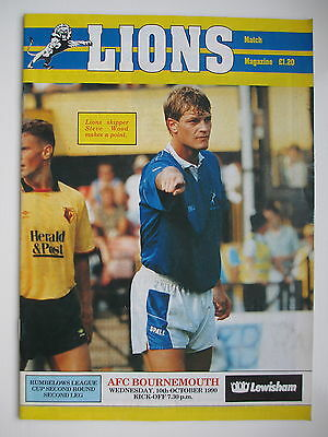 MILLWALL v BOURNEMOUTH LEAGUE CUP 90/91