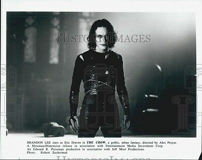 "Press Photo Brandon Lee in ""The Crow"""